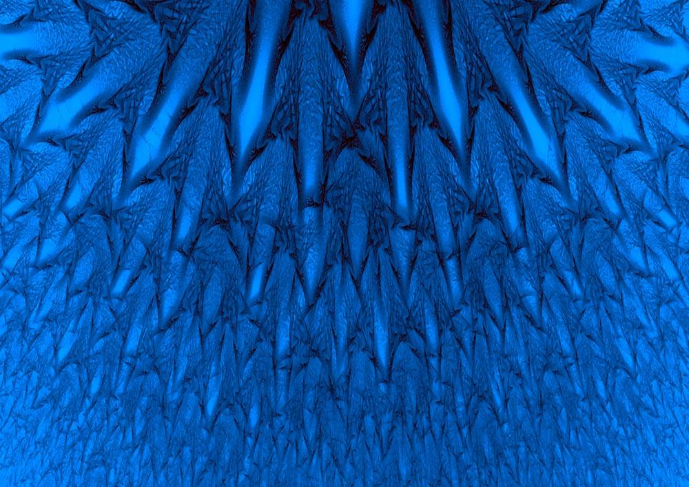 Psicología del color azul brillante
